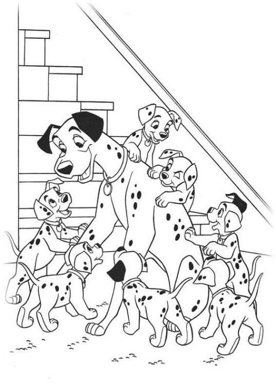 ausmalbilder zum drucken malvorlage 101 dalmatiner kostenlos 1