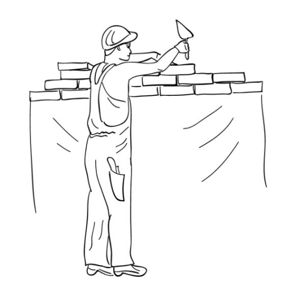 ausmalbilder zum drucken malvorlage bauarbeiter kostenlos 1