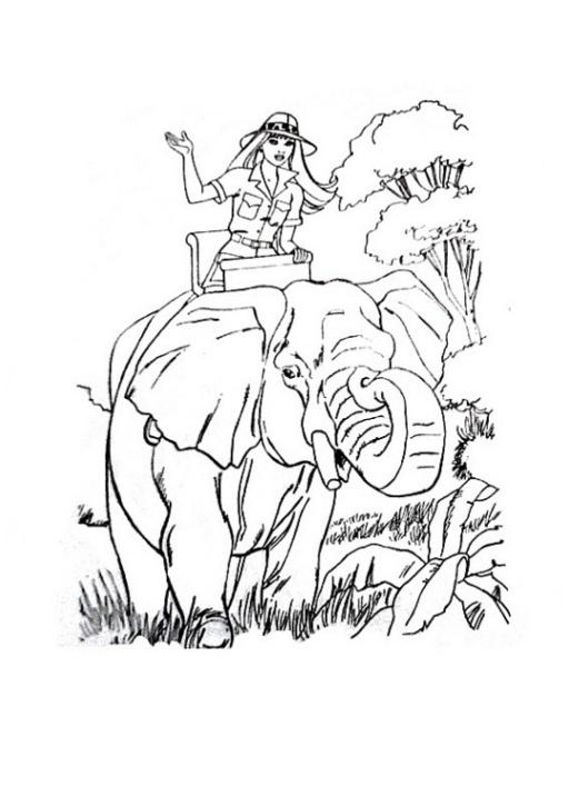 ausmalbilder zum drucken malvorlage elefant kostenlos 1