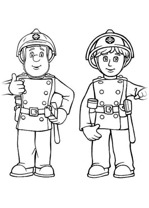 ausmalbilder zum drucken malvorlage feuerwehrmann sam