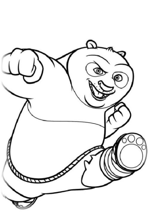 ausmalbilder zum drucken malvorlage kung fu panda 2