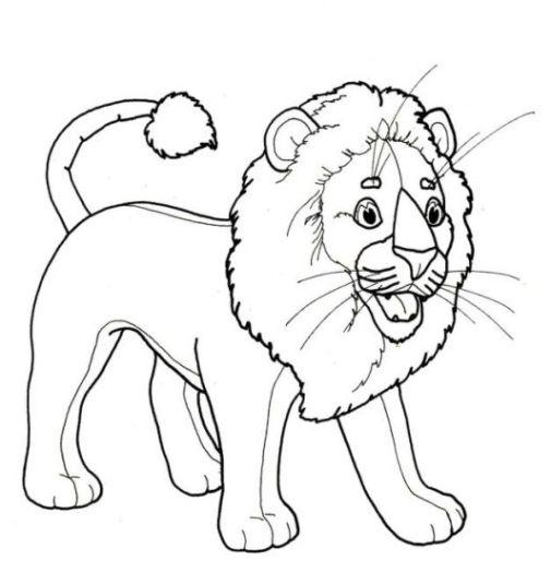 ausmalbilder zum drucken malvorlage löwe kostenlos 3