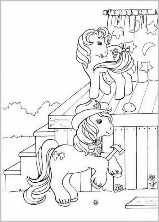 ausmalbilder zum drucken malvorlage my little pony kostenlos 1