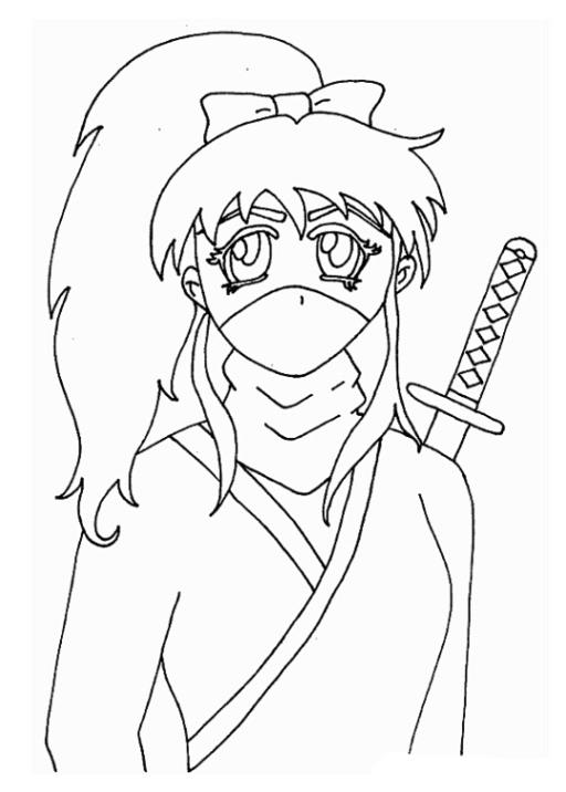 ausmalbilder zum drucken malvorlage ninja kostenlos 1