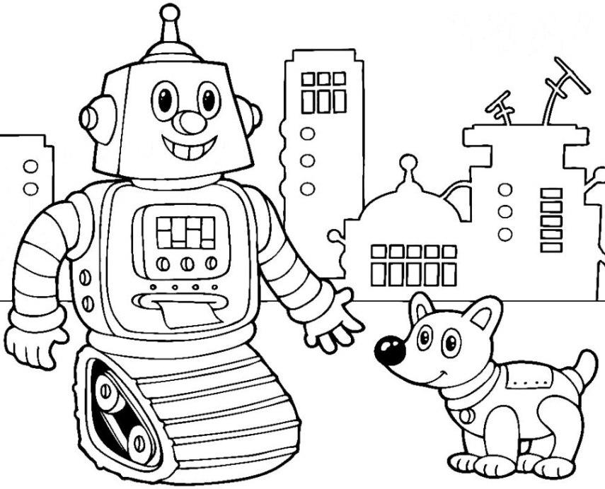 Roboter Malvorlagen Kostenlos Coloring And Malvorlagan