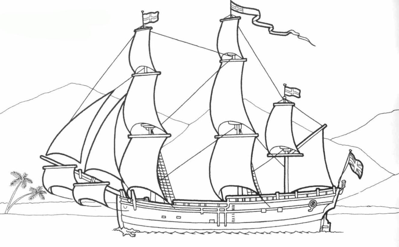 ausmalbilder zum drucken malvorlage schiff kostenlos 4
