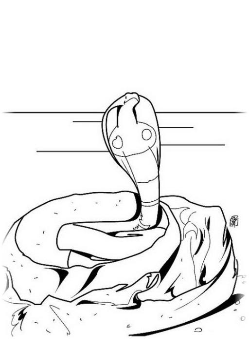 ausmalbilder zum drucken malvorlage schlange kostenlos 1