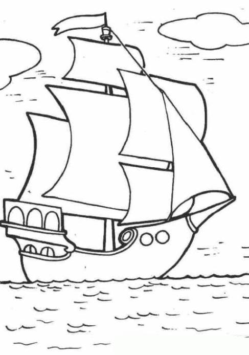 ausmalbilder zum drucken malvorlage segelschiff kostenlos 1