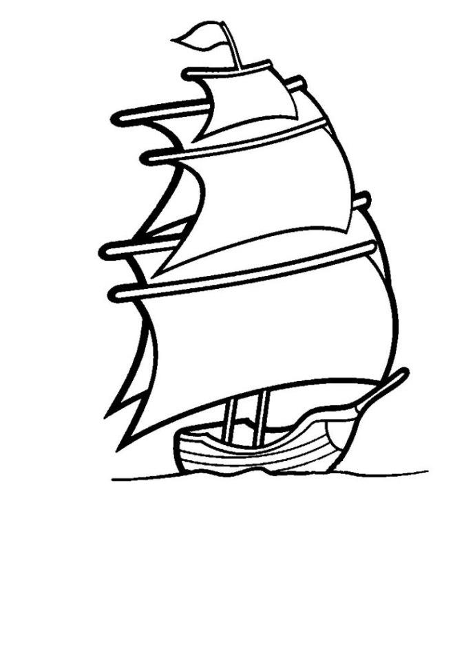 ausmalbilder zum drucken malvorlage segelschiff kostenlos 3