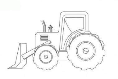 1568 malvorlage traktor mit schaufel | coloring and