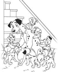 Malvorlage 101 dalmatiner kostenlos 1