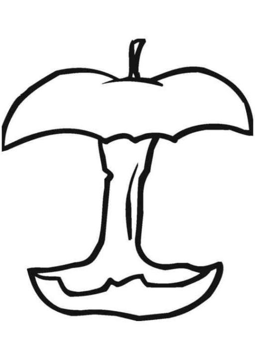 Ausmalbilder Zum Drucken Malvorlage Apfel Kostenlos 1