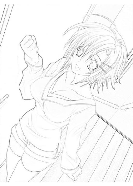 Ausmalbilder Zum Drucken Malvorlage Anime Kostenlos 2