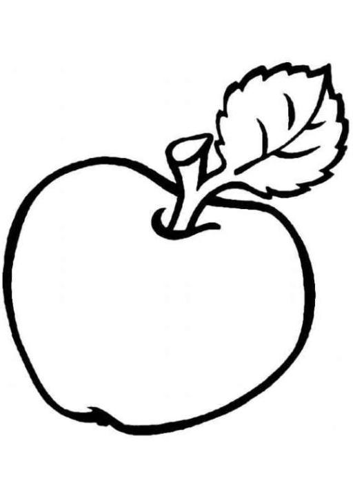 Ausmalbilder zum Drucken Malvorlage Apfel kostenlos 6