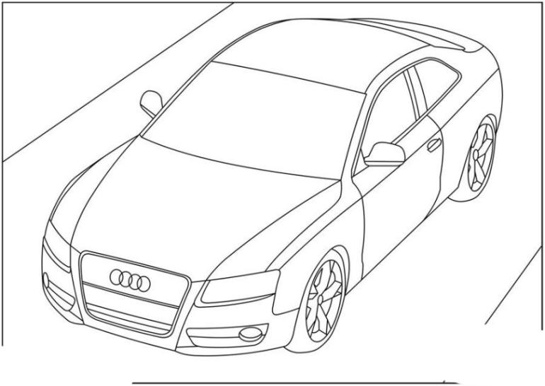 Ausmalbilder Zum Drucken Malvorlage Audi Kostenlos 2