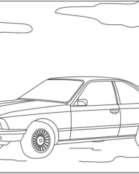 Malvorlage BMW kostenlos 1