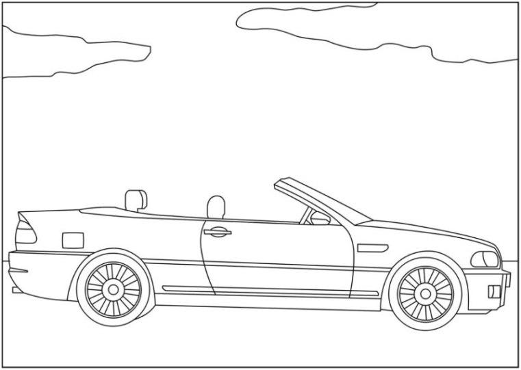 Audi Ausmalbilder Zum Ausdrucken: Ausmalbilder Zum Drucken Malvorlage BMW Kostenlos 2