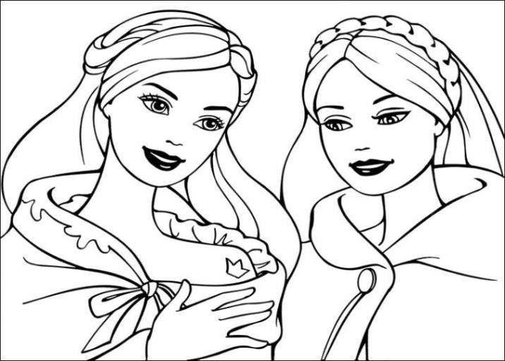 Ausmalbilder zum Drucken Malvorlage Barbie Die Prinzessin und das ...