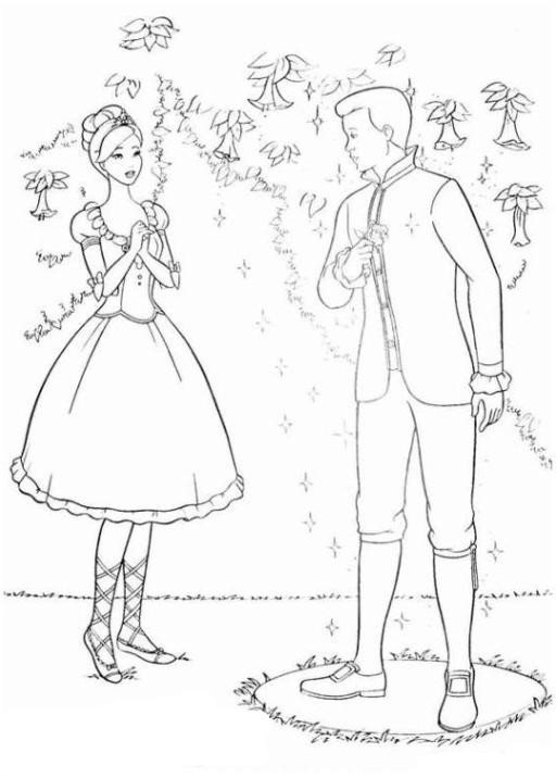 Ausmalbilder Zum Drucken Malvorlage Barbie Und Die 12 Tanzenden
