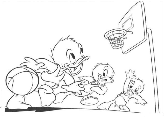 Ausmalbilder zum Drucken Malvorlage Basketball kostenlos 2