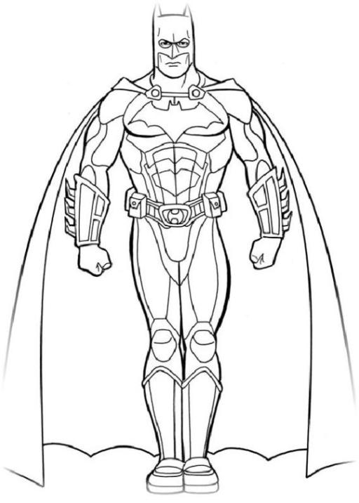 Ausmalbilder Zum Drucken Malvorlage Batman Kostenlos 3