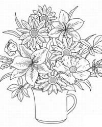 Malvorlage Blumenstrauss kostenlos 1