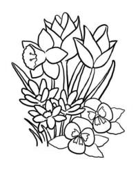 Malvorlage Blumenstrauss kostenlos 2