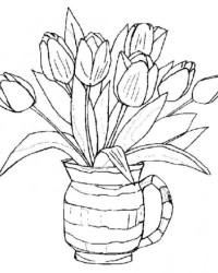 Malvorlage Blumenstrauss kostenlos 3