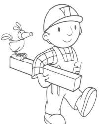 Malvorlage Bob der Baumeister kostenlos 1