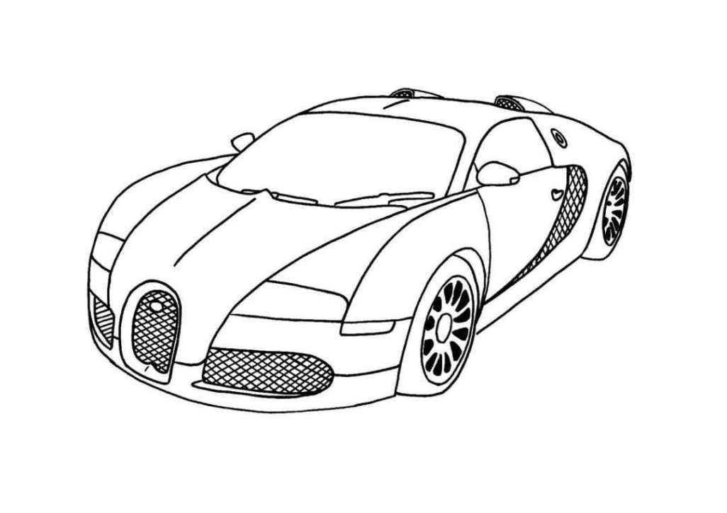 Ausmalbilder zum Drucken Malvorlage Bugatti kostenlos 2