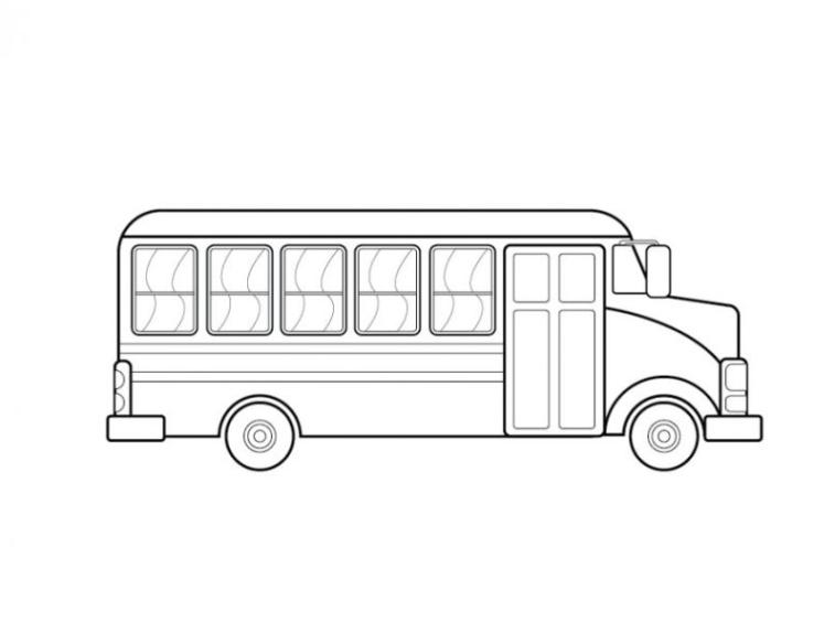 Ausmalbilder Zum Drucken Malvorlage Bus Kostenlos 1