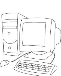 Malvorlage Computer kostenlos 1