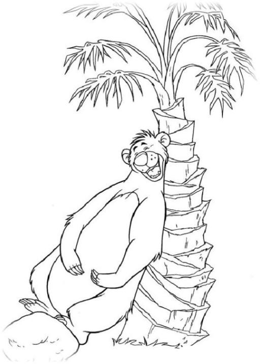 Ausmalbilder Zum Drucken Malvorlage Das Dschungelbuch Kostenlos 3