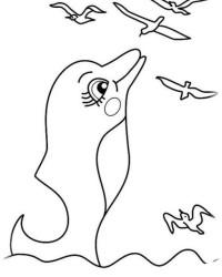 Malvorlage Delphine kostenlos 2