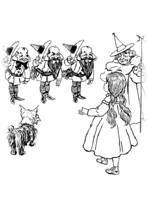 Wizard Of Oz Coloring Pages For Adults