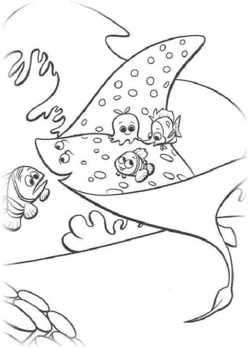 Ausmalbilder Zum Drucken Malvorlage Findet Nemo Kostenlos 3