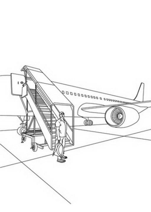 Ausmalbilder Zum Drucken Malvorlage Flugzeug Kostenlos 2