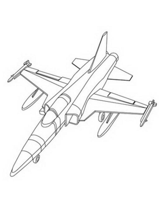 Ausmalbilder Zum Drucken Malvorlage Flugzeug Kostenlos 3