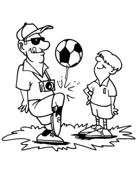 Ausmalbilder Zum Drucken Malvorlage Fussballspieler Kostenlos 2