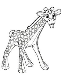 Malvorlagen Von Giraffe Kostenlos Zum Ausdrucken