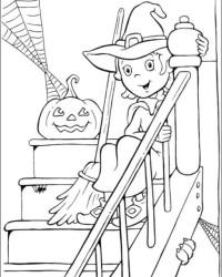 Malvorlage Halloween kostenlos 1