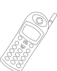 Malvorlage Handy kostenlos 1