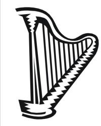 Malvorlage Harfe kostenlos 1
