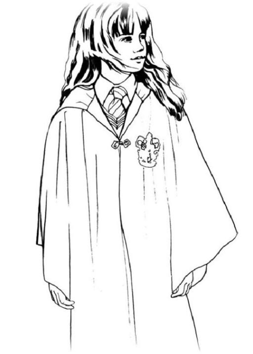 Ausmalbilder Zum Drucken Malvorlage Harry Potter Kostenlos 2