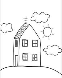 Malvorlage Haus kostenlos 3