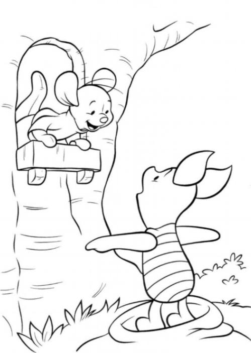 Malvorlage Heffalump – Ein neuer Freund fur Winnie Puuh kostenlos 1