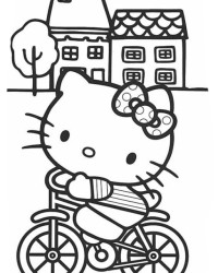 Malvorlage Hello Kitty kostenlos 1