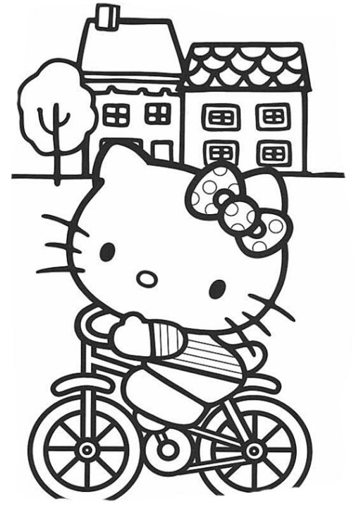 Ausmalbilder Zum Drucken Malvorlage Hello Kitty Kostenlos 1