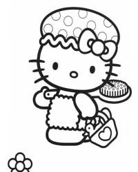 Malvorlage Hello Kitty kostenlos 2