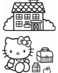 Malvorlage Hello Kitty kostenlos 3